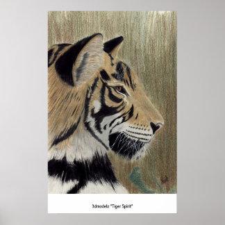 """3dmodelz """"Tiger Spirit"""" Poster"""