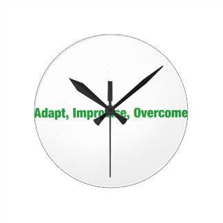 3D's - adapt, improvise, overcome Clocks