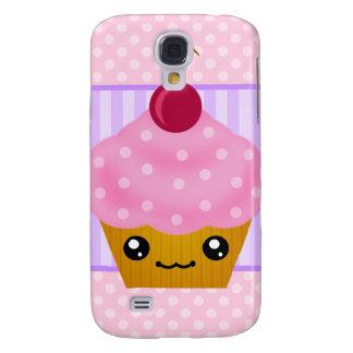 3G Kawaii Cupcake Cherry  Samsung Galaxy S4 Cases
