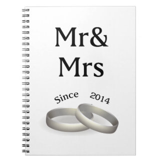 3rd anniversary matching Mr. And Mrs. Since 2014 Notebook