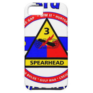 """3RD ARMORED DIVISION """"SPEARHEAD-THIRD HERD"""" TOUGH iPhone 5 CASE"""