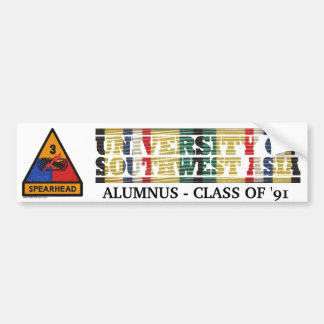 3rd Armored Division U of Southwest Asia Sticker Bumper Sticker