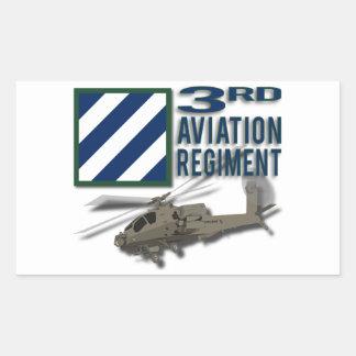 3rd Aviation Regiment Apache Rectangular Sticker