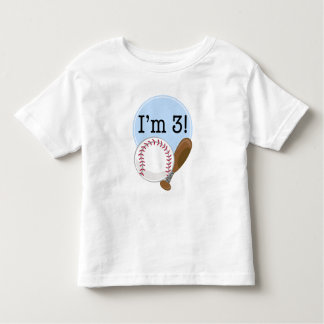 3rd Birthday Baseball Kids Shirts