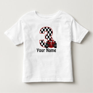 3rd Birthday Boy Personalized Race Car Shirt