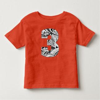 3rd Birthday Boy Tropical Luau Shirt - Number 3
