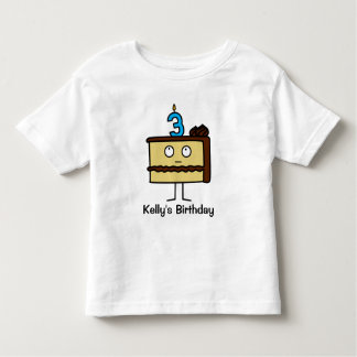 3rd Birthday Cake with Candles Toddler T-Shirt