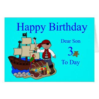 3rd Birthday Card for a Son