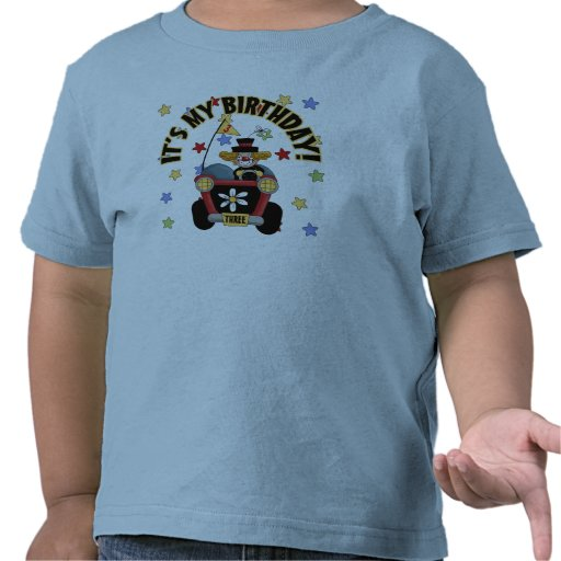 3rd  Birthday Clown Tee Shirt