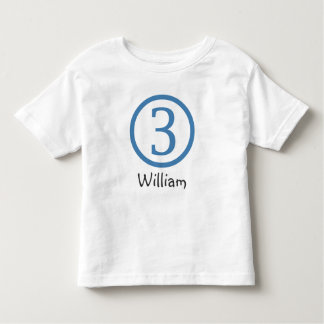 3rd Birthday Customizable T-Shirt Boy