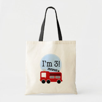 3rd Birthday Firetruck Tote Bag