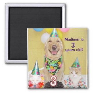 3rd Birthday Magnet