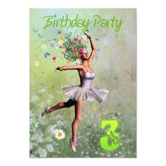 3rd Birthday party invitation