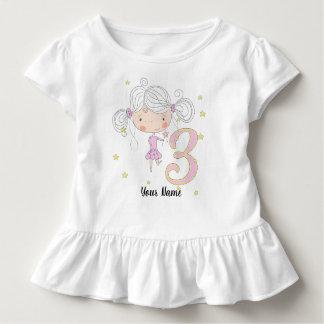 3rd Birthday Pink Princess Toddler T-Shirt