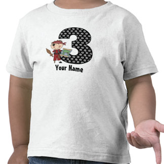 3rd Birthday Pirate Personalized Shirt