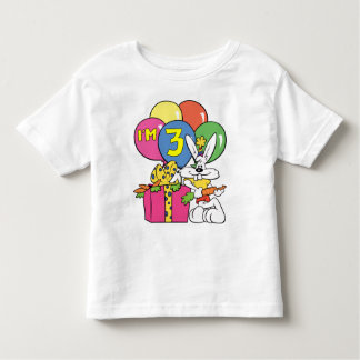 3rd Birthday Rabbit Toddler T-Shirt