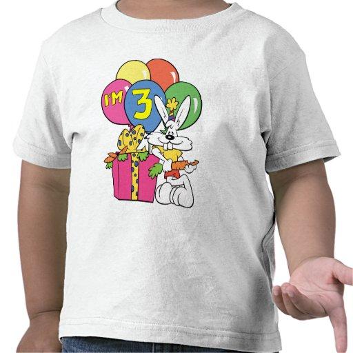 3rd Birthday Rabbit Tee Shirt