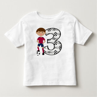 3rd Birthday Red and Blue Soccer Goal T-Shirt