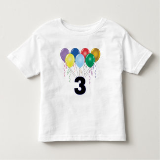 3rd Birthday T-Shirt with Balloons