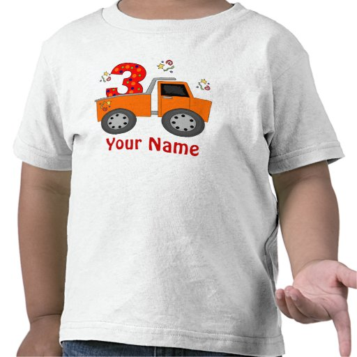 3rd Birthday Truck Personalized T-shirt
