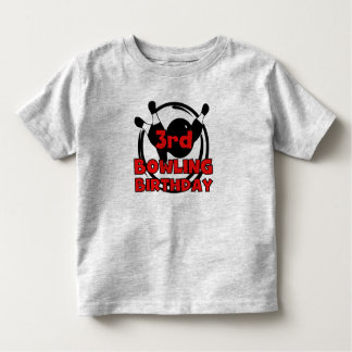 3rd Bowling Birthday Tee Shirts