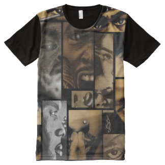 3rd Eye Vision Drawing Collage All-Over Print T-Shirt