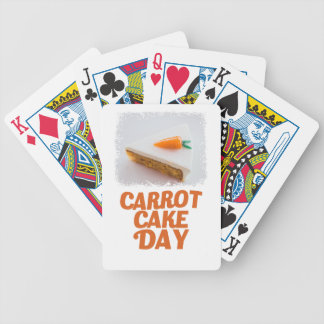 3rd February - Carrot Cake Day - Appreciation Day Bicycle Playing Cards