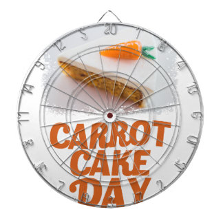 3rd February - Carrot Cake Day - Appreciation Day Dartboard