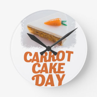 3rd February - Carrot Cake Day - Appreciation Day Round Clock