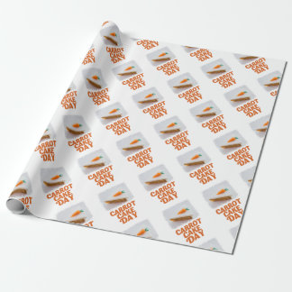 3rd February - Carrot Cake Day - Appreciation Day Wrapping Paper