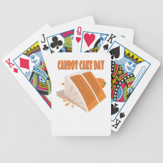 3rd February - Carrot Cake Day Bicycle Playing Cards