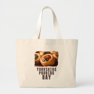 3rd February - Yorkshire Pudding Day Large Tote Bag