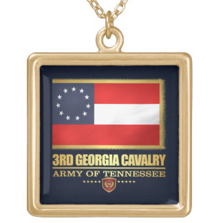 3rd Georgia Cavalry (F10) Gold Plated Necklace
