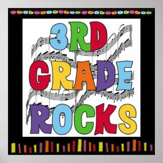 3rd Grade Rocks Classroom Poster