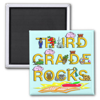 3rd Grade Rocks Magnet