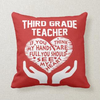 3rd Grade Teacher Cushion