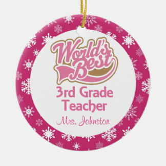 3rd Grade Teacher Personalized Ornament
