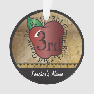 3rd Grade Teacher's Vintage Style Ornament