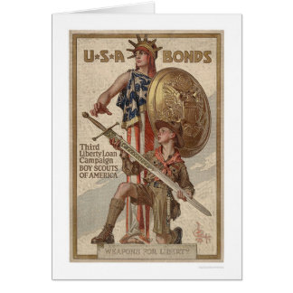 3rd Liberty Loan Campaign Boy Scouts (Restored) Card