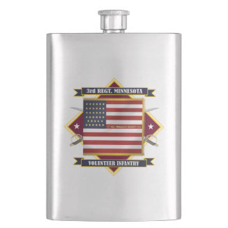 3rd Minnesota Volunteer Infantry Hip Flask