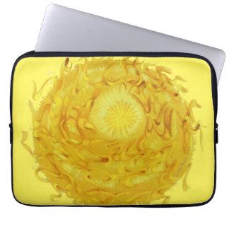 3rd-Solar Plexus Chakra Yellow Artwork #1 Laptop Sleeve