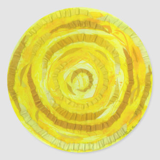 3rd-solar plexus chakra yellow artwork #2 round sticker