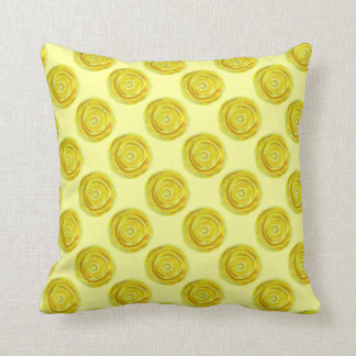 3rd-solar plexus chakra yellow artwork #2 throw pillow