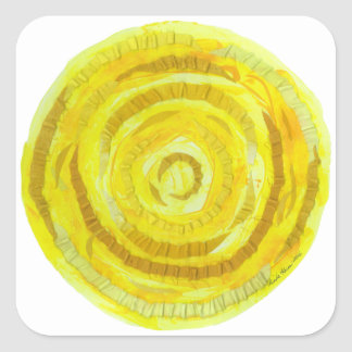 3rd-Solar Plexus Chakra Yellow Healing Artwork #2 Square Sticker