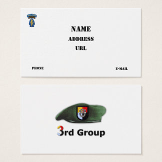 3rd Special Forces Group Green Berets SF SFG Business Card