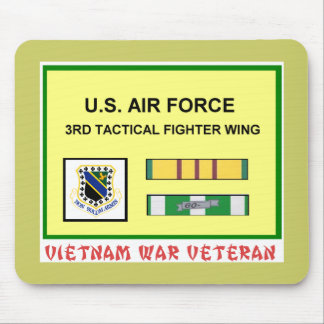 3RD TACTICAL FIGHTER WING VIETNAM WAR VET MOUSE PAD