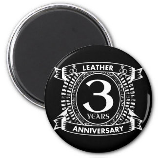 3rd wedding anniversary distressed crest magnet