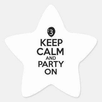 3rd year old birthday designs star sticker