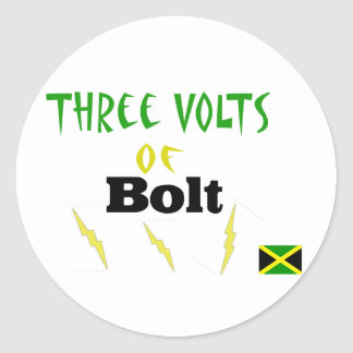 3volts of bolt classic round sticker