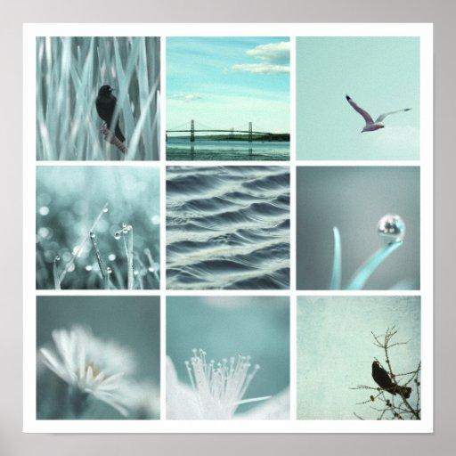 3x3 aqua nature Poster